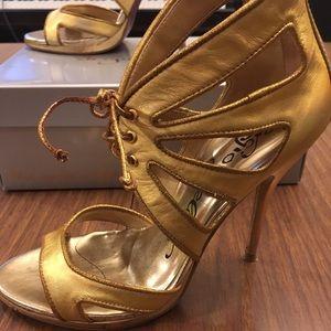 Emma Gold Holograph platform heels